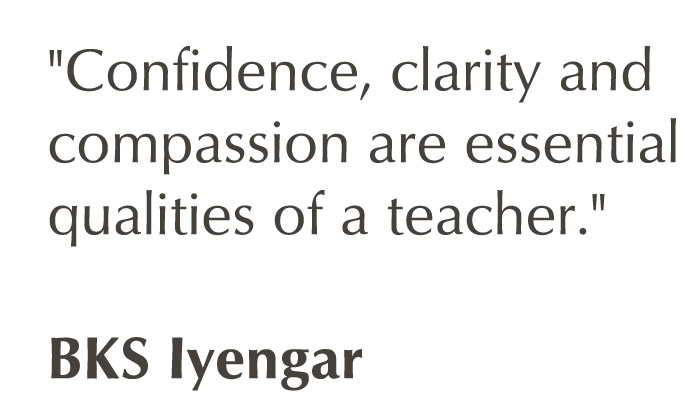 The Purpose Of Yoga Teacher Training Course Is To Build A Firm Foundation In Teaching BKS Iyengars Work It Lasts For Two Years Consisting