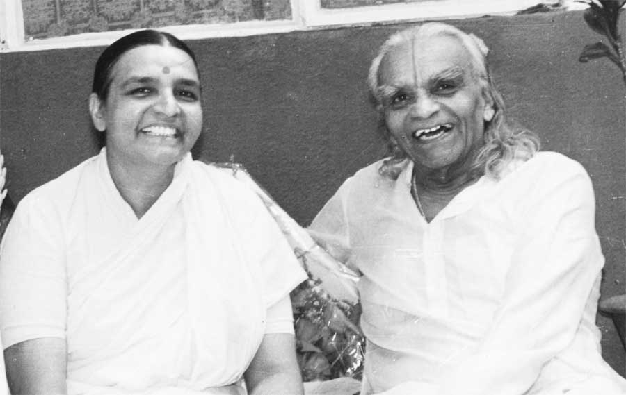 Geeta Iyengar with BKS Iyengar