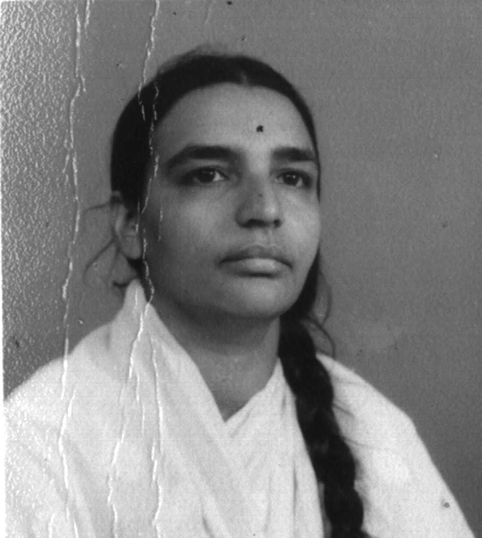 Geeta Iyengar as a young woman