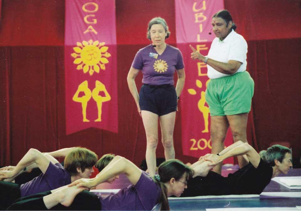 Geeta Iyengar teaching at Iyengar Yoga Julbileee, Crystal Palace, May 2002